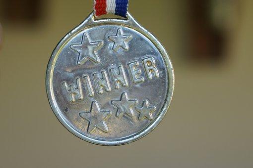 A winner medallion.